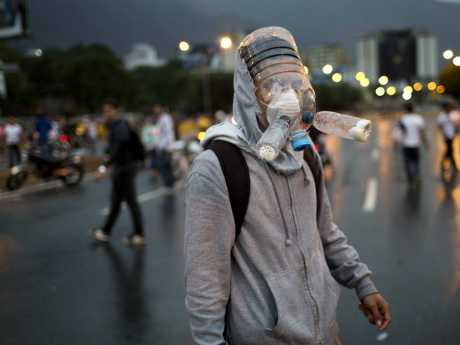 protesters-in-venezuela-are-wearing-crazy-looking-homemade-gas-masks